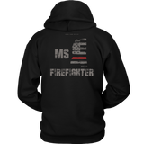 Mississippi Firefighter Thin Red Line Hoodie - Thin Line Style