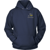 Wisconsin Dispatcher Thin Gold Line Hoodie - Thin Line Style