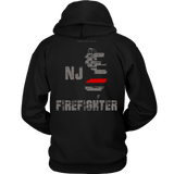 New Jersey Firefighter Thin Red Line Hoodie - Thin Line Style