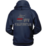 West Virginia Firefighter Thin Red Line Hoodie - Thin Line Style