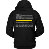 South Dakota Dispatcher Thin Gold Line Hoodie - Thin Line Style