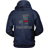 Vermont Firefighter Thin Red Line Hoodie - Thin Line Style