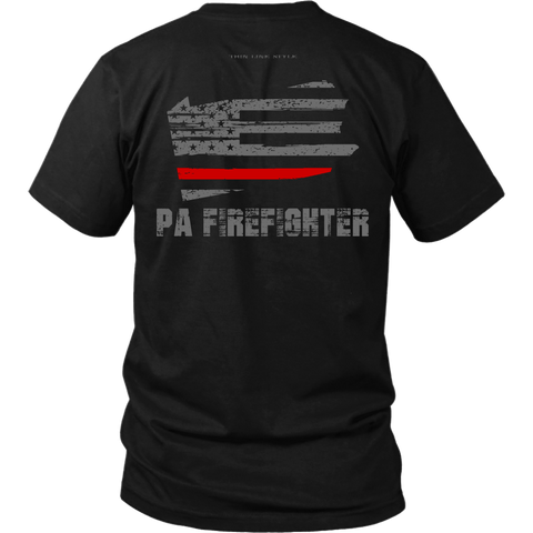 Pennsylvania Firefighter Thin Red Line Shirt - Thin Line Style