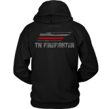 Tennessee Firefighter Thin Red Line Hoodie - Thin Line Style
