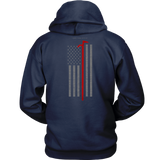 Roof Hook Firefighter USA Flag Hoodie - Thin Line Style