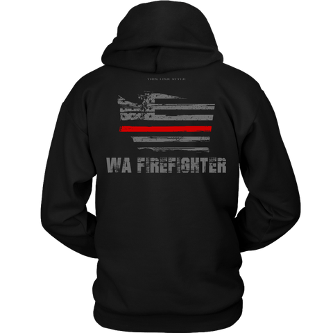 Washington Firefighter Thin Red Line Hoodie - Thin Line Style
