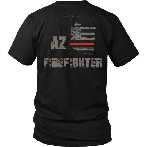 Arizona Firefighter Thin Red Line Shirt - Thin Line Style