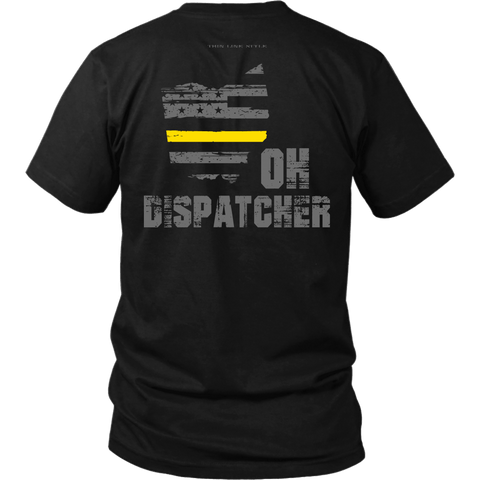 Ohio Dispatcher Thin Gold Line Shirt - Thin Line Style
