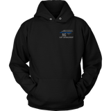 North Carolina Law Enforcement Thin Blue Line Hoodie - Thin Line Style