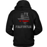 Texas Firefighter Thin Red Line Hoodie - Thin Line Style