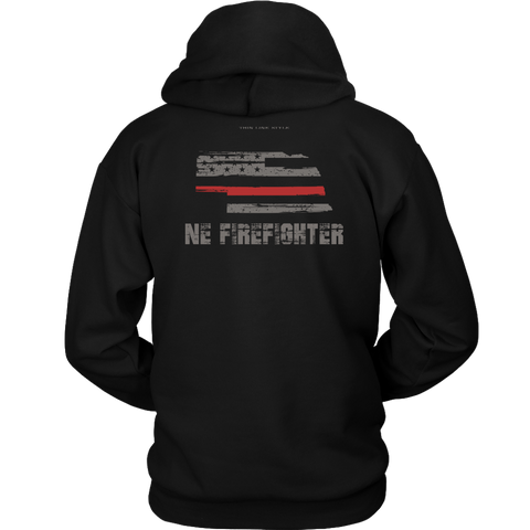 Nebraska Firefighter Thin Red Line Hoodie - Thin Line Style