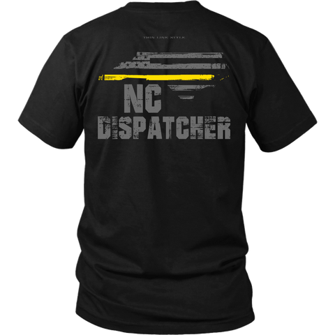 North Carolina Dispatcher Thin Gold Line Shirt - Thin Line Style