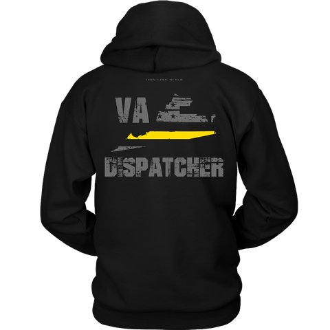Virginia Dispatcher Thin Gold Line Hoodie - Thin Line Style
