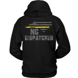 North Carolina Dispatcher Thin Gold Line Hoodie - Thin Line Style