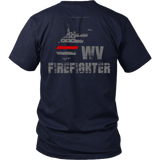West Virginia Firefighter Thin Red Line Shirt - Thin Line Style