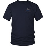 New York Law Enforcement Thin Blue Line Shirt - Thin Line Style
