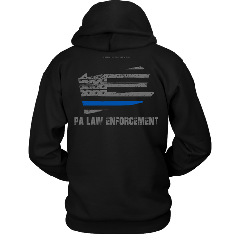 Pennsylvania Law Enforcement Thin Blue Line Hoodie - Thin Line Style