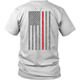 Firefighter Thin Red Line USA Flag Shirt - Thin Line Style