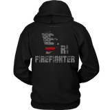 Rhode Island Firefighter Thin Red Line Hoodie - Thin Line Style