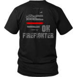 Ohio Firefighter Thin Red Line Shirt - Thin Line Style