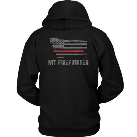Montana Firefighter Thin Red Line Hoodie - Thin Line Style