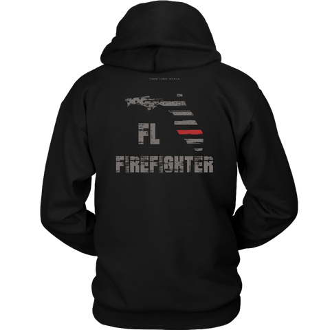 Florida Firefighter Thin Red Line Hoodie - Thin Line Style