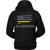 Pennsylvania Dispatcher Thin Gold Line Hoodie - Thin Line Style