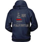 New Hampshire Firefighter Thin Red Line Hoodie - Thin Line Style