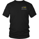 Oklahoma Dispatcher Thin Gold Line Shirt - Thin Line Style