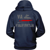 Virginia Firefighter Thin Red Line Hoodie - Thin Line Style
