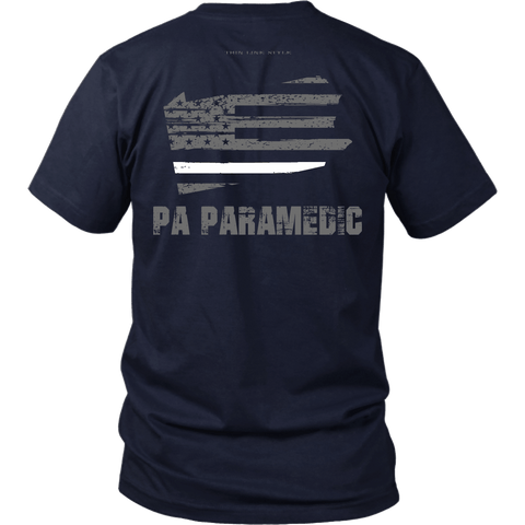 Pennsylvania Paramedic Thin White Line Shirt - Thin Line Style