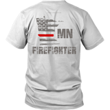 Minnesota Firefighter Thin Red Line Shirt - Thin Line Style