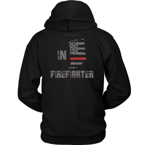 Indiana Firefighter Thin Red Line Hoodie - Thin Line Style