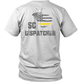 South Carolina Dispatcher Thin Gold Line Shirt - Thin Line Style