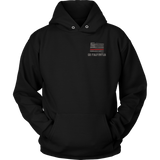 Colorado Firefighter Thin Red Line Hoodie - Thin Line Style