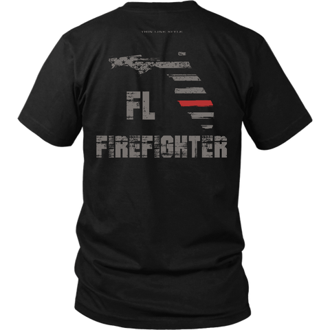 Florida Firefighter Thin Red Line Shirt - Thin Line Style