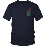 Pick Head Axe Firefighter USA Flag Shirt - Thin Line Style