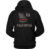 Georgia Firefighter Thin Red Line Hoodie - Thin Line Style