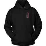 Pink Halligan Tool Firefighter USA Flag Hoodie - Thin Line Style