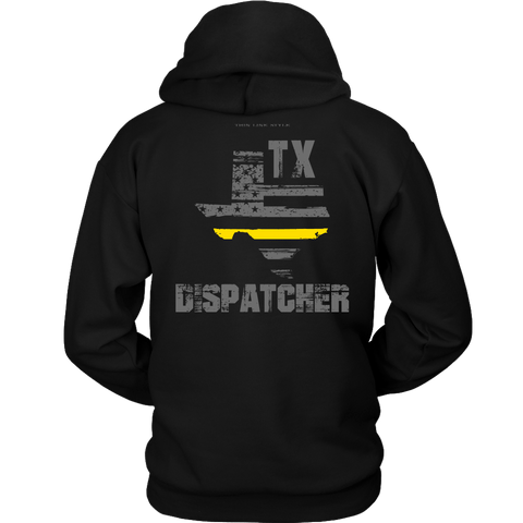 Texas Dispatcher Thin Gold Line Hoodie - Thin Line Style