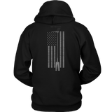 Subdued Halligan Tool Firefighter USA Flag Hoodie - Thin Line Style