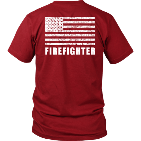 Fire Rescue Firefighter Duty Shirt - Thin Line Style