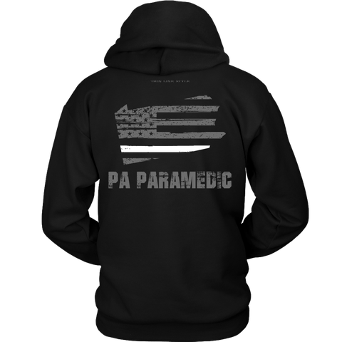 Pennsylvania Paramedic Thin White Line Hoodie - Thin Line Style