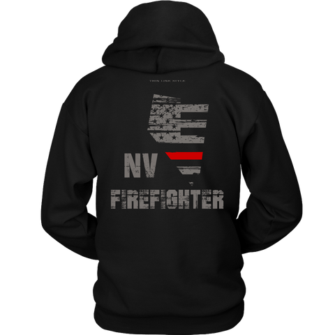 Nevada Firefighter Thin Red Line Hoodie - Thin Line Style