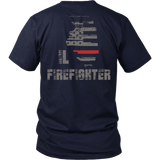 Illinois Firefighter Thin Red Line Shirt - Thin Line Style