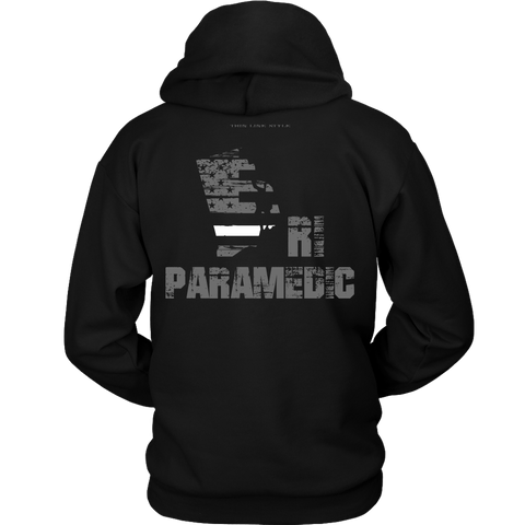 Rhode Island Paramedic Thin White Line Hoodie - Thin Line Style