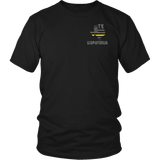 Texas Dispatcher Thin Gold Line Shirt - Thin Line Style