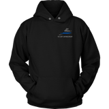 Virginia Law Enforcement Thin Blue Line Hoodie - Thin Line Style