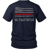 South Dakota Firefighter Thin Red Line Shirt - Thin Line Style