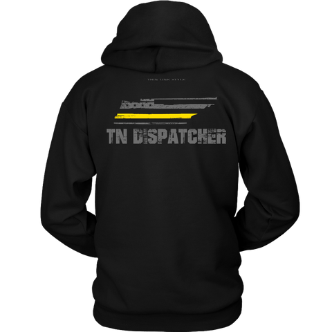 Tennessee Dispatcher Thin Gold Line Hoodie - Thin Line Style